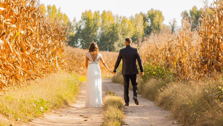 El vestido de novia de Alexandra para su boda